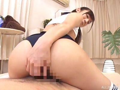 Japanese boyfriend Hoshina Ai with a through-and-through bed basically rides a dick