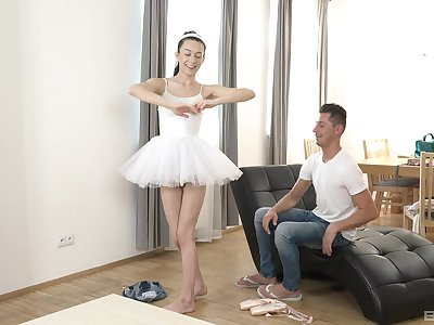 Ariel grace gets eaten out blows her challenge and then rides him well