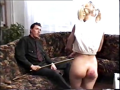 Vintage spanking punishment video