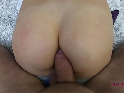 amateur shcool girl strive farther anal creampie