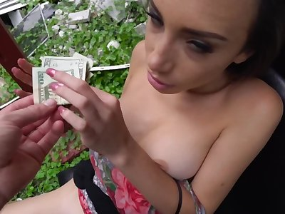 Young babe is offered some money for giving sexual pleasure