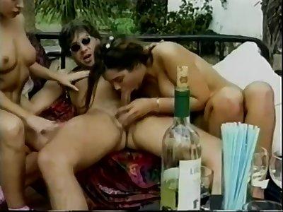 Vintage euro group sex - Big natural tits on Italian villa
